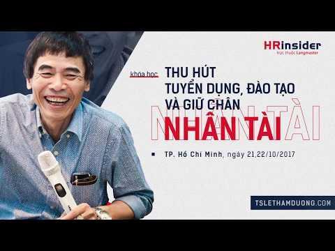 TS Lê Thẩm Dương 2017 - Chiến Lược Nhân Sự Hiện đại