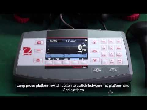 Cân điện tử Ohaus - Ranger® 7000 Precision Scales Counting With A 2nd Platform