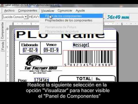 Cân siêu thị Aclas - Conociendo El Editor De Etiquetas