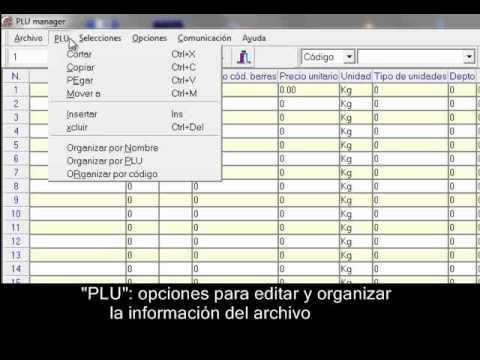 Cân siêu thị Aclas - Conociendo El PLU Manager