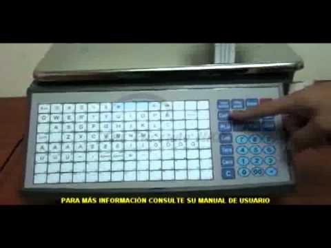 Cân siêu thị Aclas - Configuración Del Papel Térmico En La Balanza Aclas LS21530EC