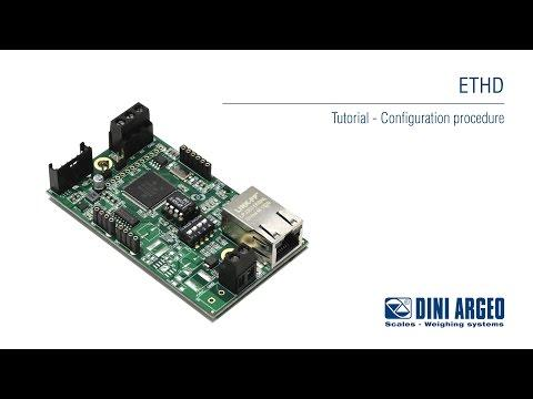 Cân công nghiệp Dini Argeo - ETHD Tutorial - Configuration Procedure