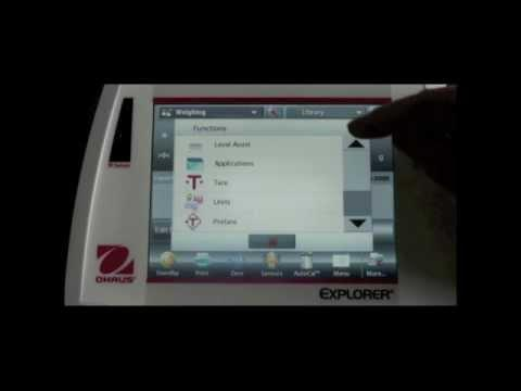 OHAUS Explorer® Analytical And Precision Balances SmarText™ 2.0 Software