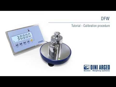 Cân công nghiệp Dini Argeo - DFW Tutorial - Calibration Procedure