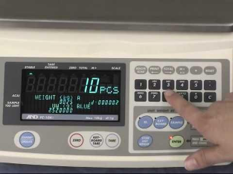 FCi, FCSi High Resolution Counting Scales