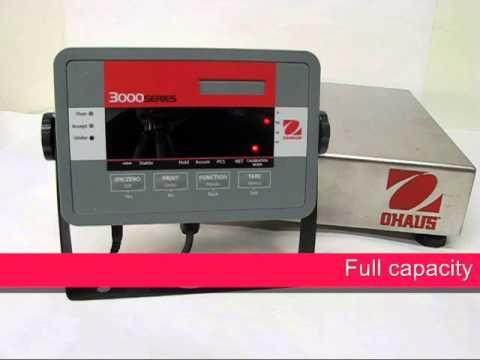 Cân điện tử Ohaus - T32M Indicator - Span Calibration