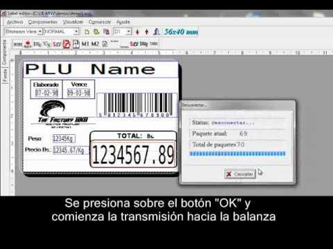 Cân siêu thị Aclas - Personalizar Etiquetas Con El Editor De Etiquetas