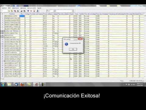 Cân siêu thị Aclas - Operaciones Con El PLU Manager