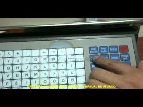 Cân siêu thị Aclas - Impresión De Ticket Con El Teclado De Acceso Directo De La Balanza Aclas LS2153