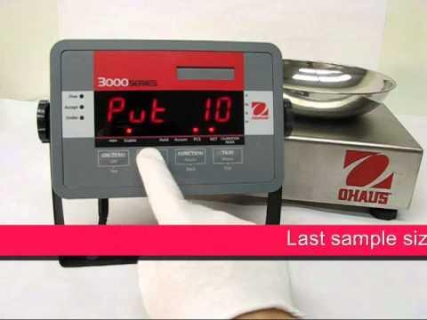 Cân điện tử Ohaus - T32M Indicator - Counting - Set APW