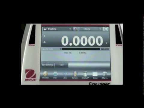 OHAUS Explorer® Analytical And Precision Balances Time And Date
