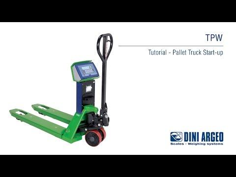 Cân công nghiệp Dini Argeo - TPW Tutorial - Pallet Truck Scale